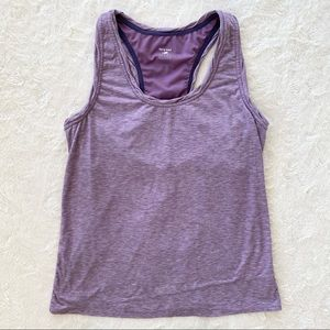 Horny Toad heathered purple built in bra tank top